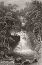 RYDAL: Upper fall, Westmorland: Waterfall Woodland, 1832
